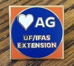 Love Ag lapel pin