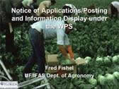 Notice of Applications / Posting and Information Display Under WPS