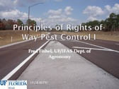 Principle of Rights of Way Pest Control I