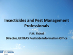 Insecticide Basics for the Pest Management Professional