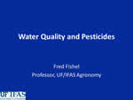 Water Quality and Pesticides